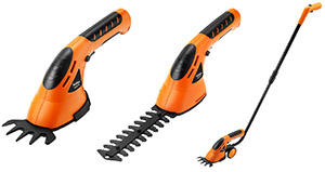 VonHaus 3-in-1 Cordless Grass Shears  Hedge Trimmer